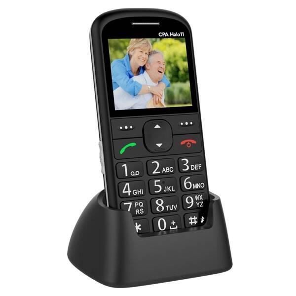 Mobilní telefon CPA Halo 11 Senior (TELMY1011BK) černý (rozbalené zboží 8800195489)