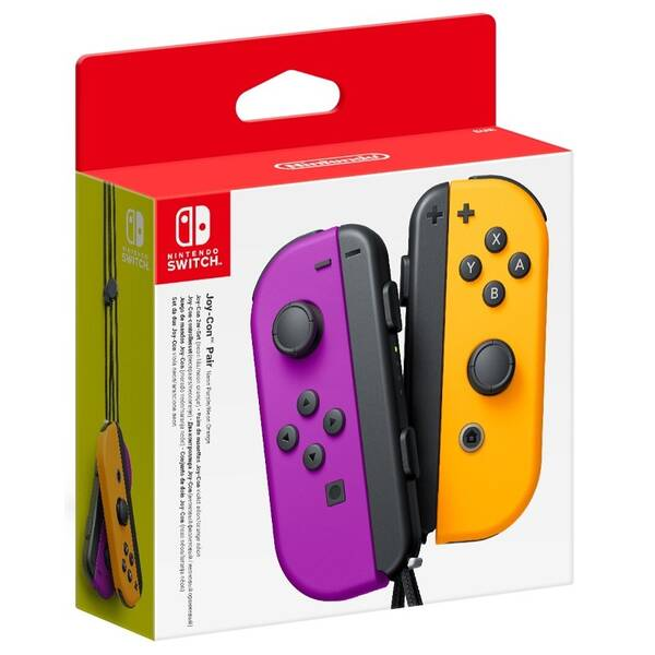 Gamepad Nintendo Joy-Con Pair Neon Purple/Neon Orange (NSP078)