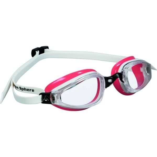 Okuliare plavecké dámske Michael Phelps Aqua Sphere K180 lady clear bílé/světle červené