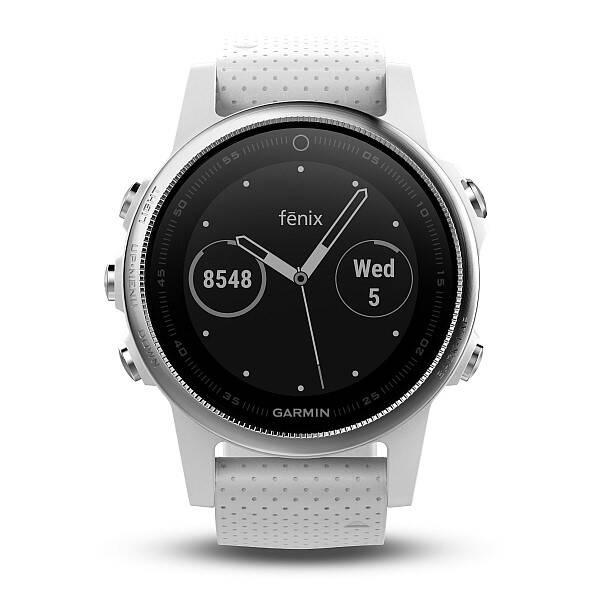 GPS hodinky Garmin Fenix 5S (010-01685-00) strieborné biele ... a0acd189de7