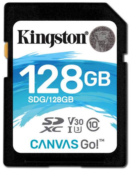 Pamäťová karta Kingston Canvas Go! SDXC 128GB UHS-I U3 (90R/45W) (SDG/128GB)