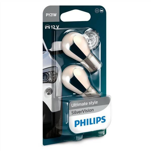 Autožiarovka Philips SilverVision PY21W, 2ks (12496SVB2)