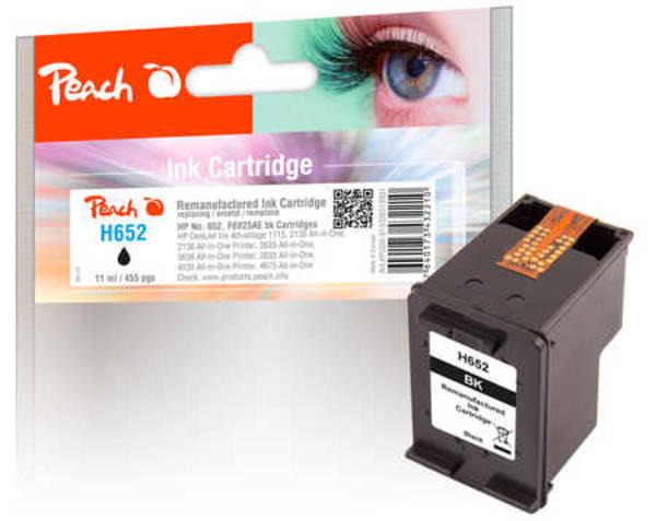 Inkoustová náplň Peach HP 652, kompatibilní (319931) černá