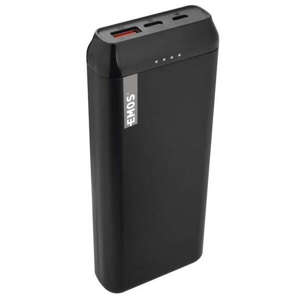 Powerbank EMOS AlphaQ 20, 20000 mAh, USB-C PD 18W, QC 3.0 (1613052500) černá