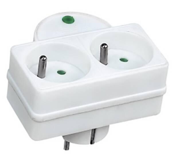 Prepäťová ochrana Solight 2x zásuvka, kontrolka (PO27) biela