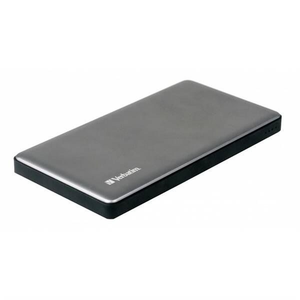 Powerbank Verbatim 10000 mAh, USB-C PD, QC 3.0 (49576) stříbrná