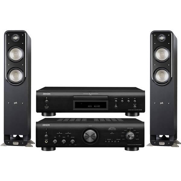 CD přehrávač Denon DCD-800NE + zesilovač PMA-800NE + set repro Polk Signature S55E černý