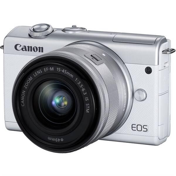 Digitální fotoaparát Canon EOS M200 + EF-M 15-45 IS STM (3700C010) bílý