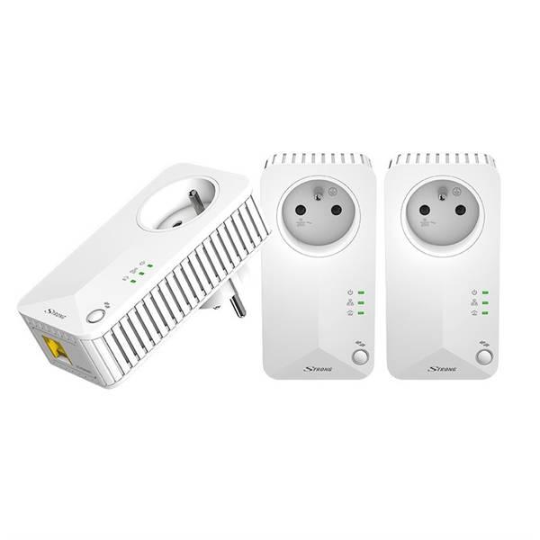 Síťový rozvod LAN po 230V Strong 500 TRI FR (PL500TRIFR) bílý