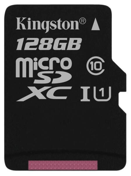 Paměťová karta Kingston Canvas Select MicroSDXC 128GB UHS-I U1 (80R/10W) (SDCS/128GBSP)