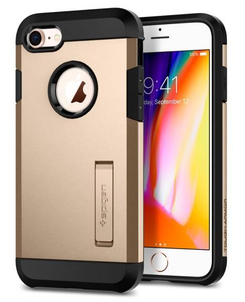 Kryt na mobil Spigen Tough Armor 2 pro Apple iPhone 7/8 - champagne gold (054CS22218)
