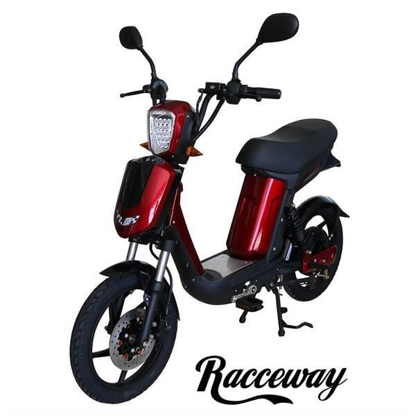 Elektrická motorka RACCEWAY E-Babeta E-BABETA, vínový-metalíza vínová barva