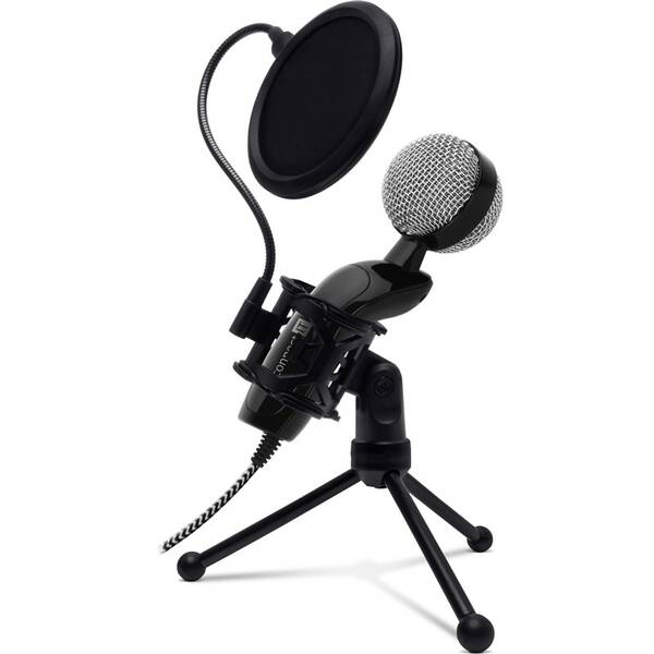 Mikrofon Connect IT YouMic Plus USB s POP filtrem (CMI-8008-BK) černý