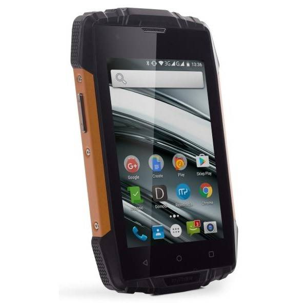 Mobilní telefon myPhone HAMMER IRON 2 Dual SIM (TELMYAHIRON2OR) černý/oranžový