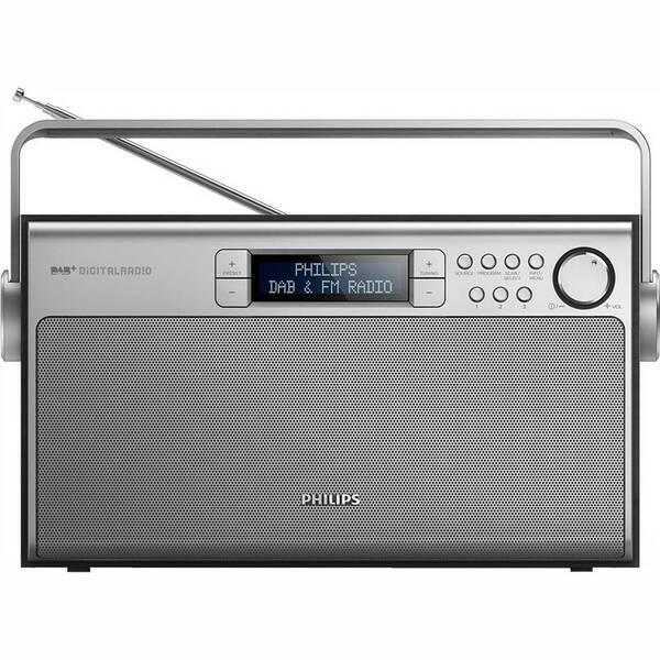 Radiopřijímač s DAB Philips AE5220B stříbrný