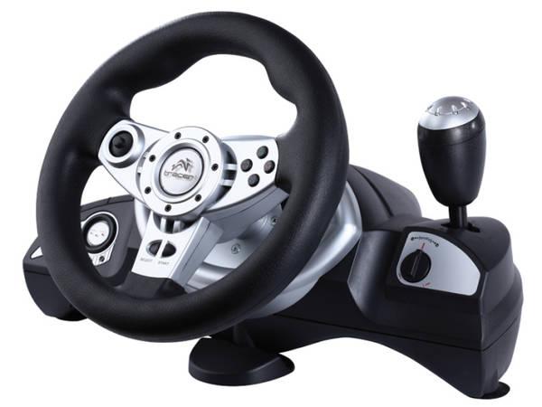 Volant Tracer Zonda + pedály pro PC, PS, PS2, PS3 (TRAJOY39707) černý