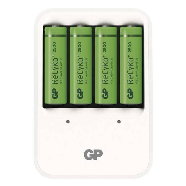 Nabíječka GP PB420 pro AA, AAA + 4x AA ReCyko+ (2500mAh) (1604142000) bílá