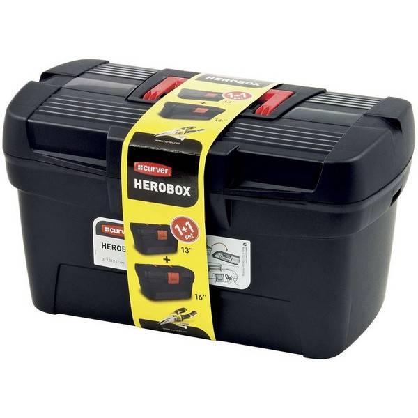 Sada kufrov na náradie Curver 02897-888 čierna/červená