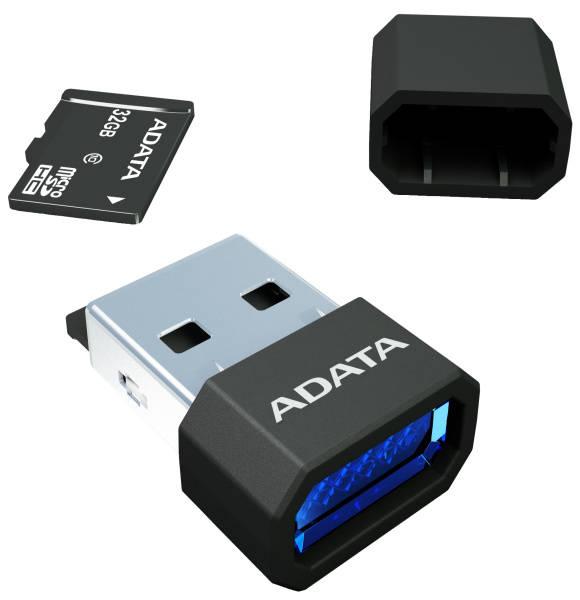 Čítačka pamäťových kariet ADATA MicroReader Ver.3, MicroSD, USB 2.0 (AM3RBKBL) čierna