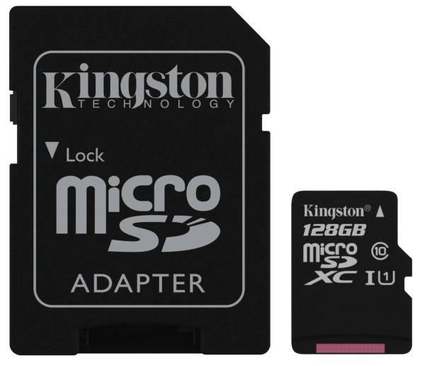 Paměťová karta Kingston Canvas Select MicroSDXC 128GB UHS-I U1 (80R/10W) + adapter (SDCS/128GB) (poškozený obal 8119013011)