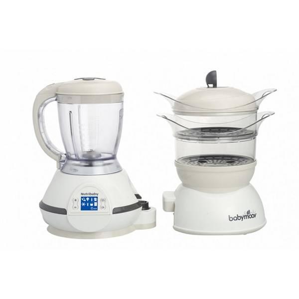 Multifunkční přístroj Babymoov NUTRIBABY, Cream bílý/béžový