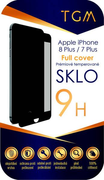 Ochranné sklo TGM Full Cover pro Apple iPhone 7+/8+ (TGMAPIP7P8PBL) černé (vrácené zboží 8800236593)