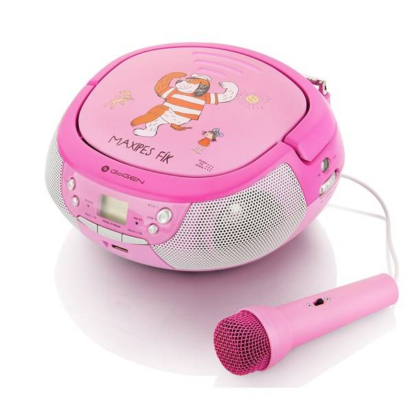 Radiopřijímač s CD GoGEN Maxipes Fík MAXIPREHRAVAC P růžový/fialový (vrácené zboží 8800208373)