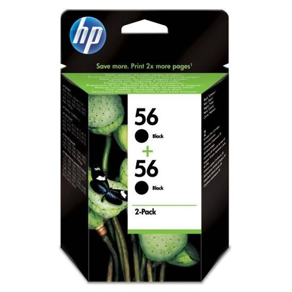 Cartridge HP No. 56, *19ml, 900 (2x450) stran,  2 pack - originální (C9502AE) čierna