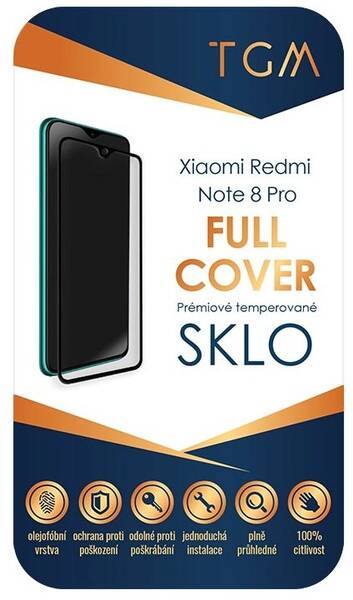 Tvrzené sklo TGM Full Cover na Xiaomi Redmi Note 8 Pro (TGMXIAREDNOT8P) černé