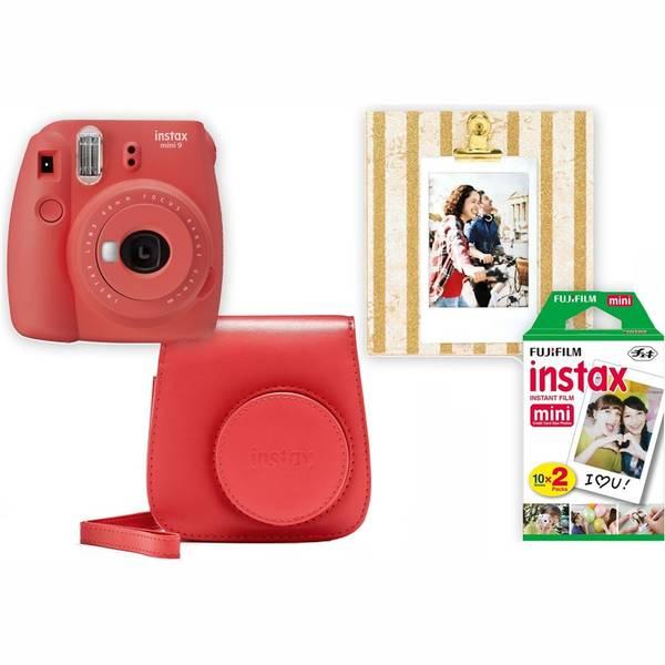 Digitální fotoaparát Fujifilm Instax mini 9 + pouzdro červený