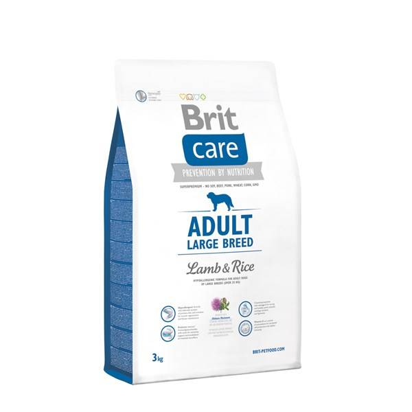 Granule Brit Care Adult Large Breed Lamb & Rice 3 kg