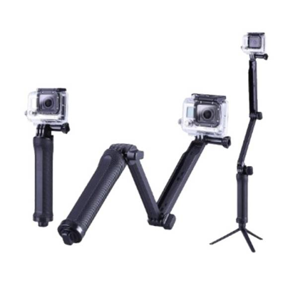 Selfie tyč Niceboy 3-Way Grip | Arm | Tripod (N238) čierna