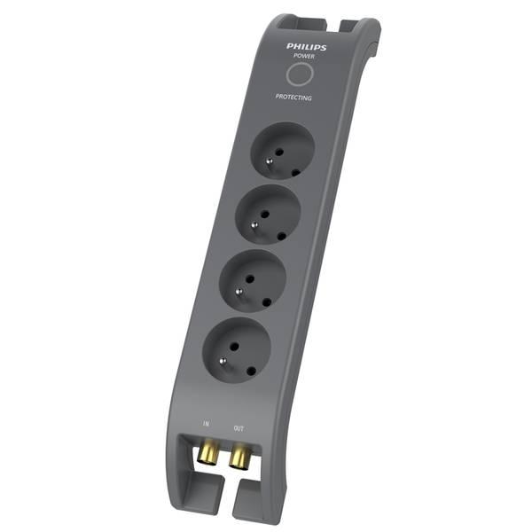 Prepäťová ochrana Philips SPN5144A/60 4x zásuvka, 2m (Phil-SPN5144A/60) sivá