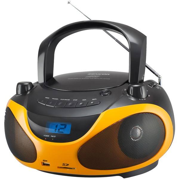 Radiopřijímač s CD Sencor SPT 228 BO černý/oranžový