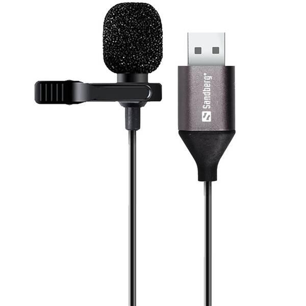 Mikrofón Sandberg klipový, USB (126-19) čierna