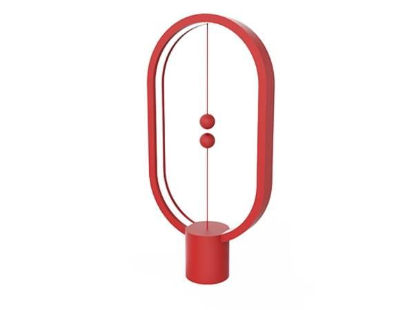 Stolní LED lampička Powercube Heng Balance Plastic Ellipse USB (DH0040RD) červená