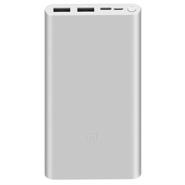 Power Bank Xiaomi Mi 3 18W Fast Charge 10 000 mAh, USB-C (24269) strieborná
