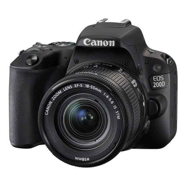 Digitálny fotoaparát Canon EOS 200D + 18-55 IS STM (2250C002) čierny