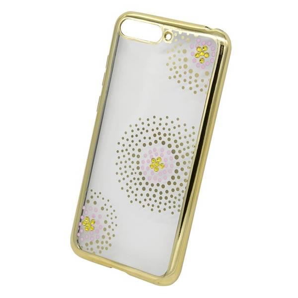 Kryt na mobil Beeyo Flower Dots pro Honor 7A (BEAHUHO7AFDGO) zlatý (poškozený obal 8800358484)