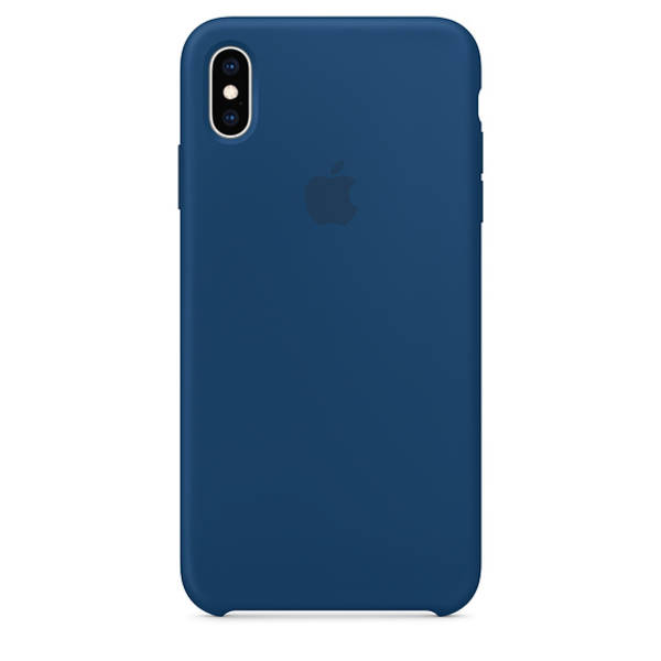Kryt na mobil Apple Silicone Case pro iPhone Xs - podvečerně modrý (MTF92ZM/A)