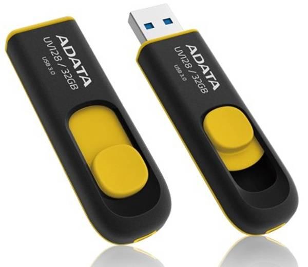 USB flash disk ADATA UV128 32GB (AUV128-32G-RBY) čierny/žltý