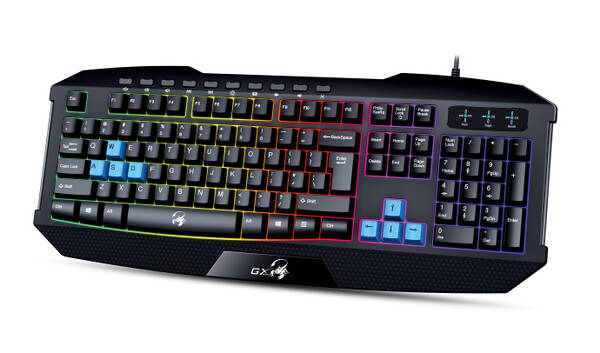 Klávesnice Genius GX Gaming Scorpion K215, CZ/SK (31310474106) černá/modrá