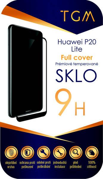 Ochranné sklo TGM Full Cover pro Huawei P20 Lite (TGMHUAWP20LBL) čierne