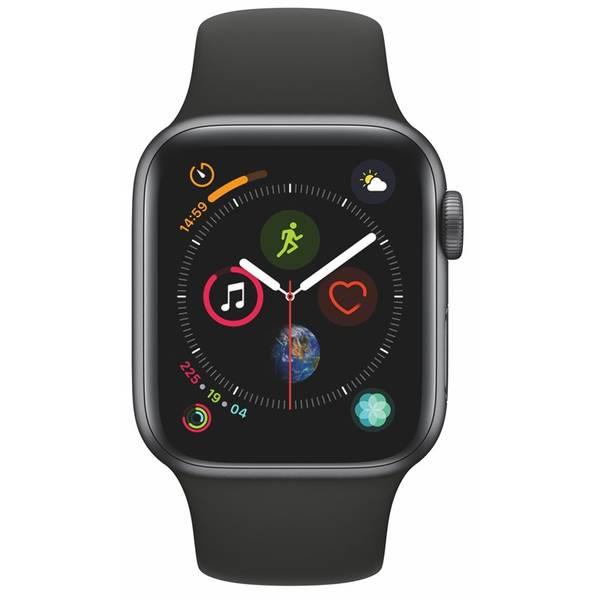 Inteligentné hodinky Apple Watch Series 4 GPS 40mm pouzdro z vesmírně šedého hliníku - černý sportovní řemínek SK verze (MU662VR/A)