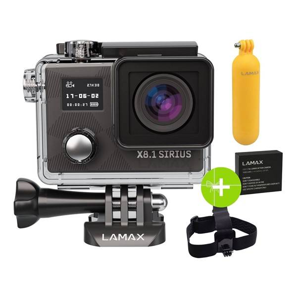 Outdoorová kamera LAMAX X8.1 Sirius + dárek, černá (vrácené zboží 8800300838)