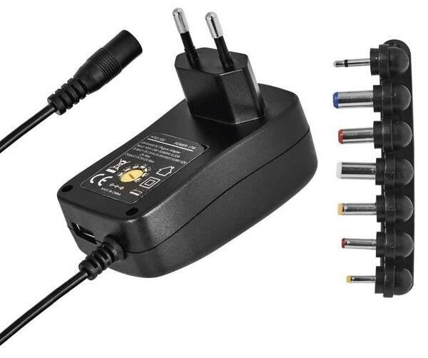 Sieťový adaptér EMOS 1500mA s hřebínkem, pulzní, USB (N3112)