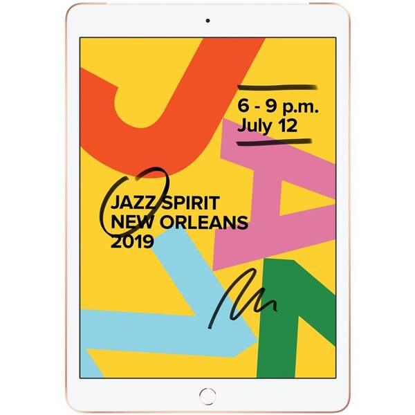 Dotykový tablet Apple iPad 2019 Wi-Fi + Cellular 32 GB - Gold (MW6D2FD/A)