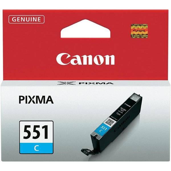Inkoustová náplň Canon CLI-551 C, 304 stran - originální (6509B001) modrá