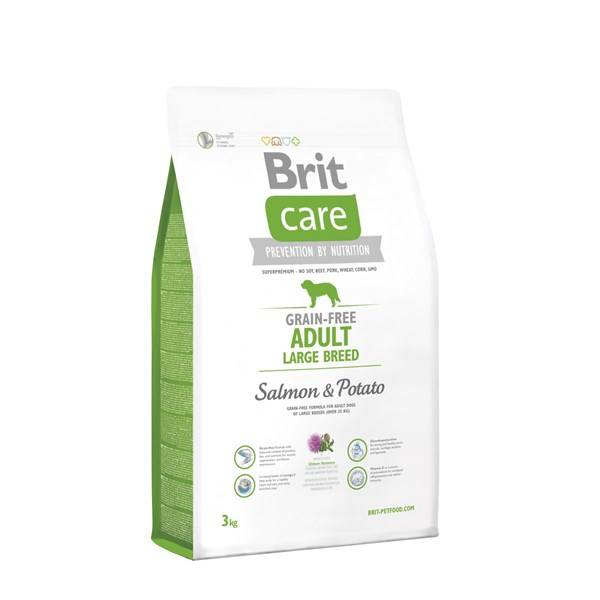 Granule Brit Care Grain-free Adult Large Breed Salmon & Potato 3 kg