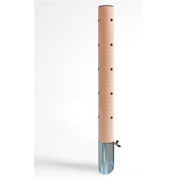 Psí pisoár DOG production 1 Drevený dizajn hladký povrch / pozinkovaný tŕň - 40 cm